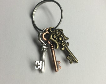 3 Key Keychain
