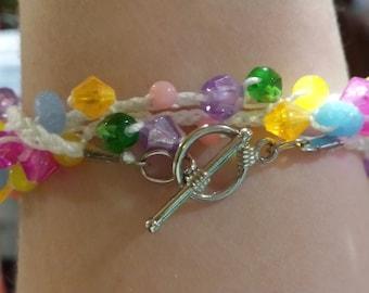 Spring Crochet Bracelet
