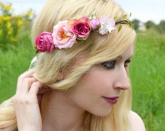 FLORAL MUSE 1 - flower wreath, Elf Crown, wedding, Bridal wreath, Bridal jewelry, summer, boho,.