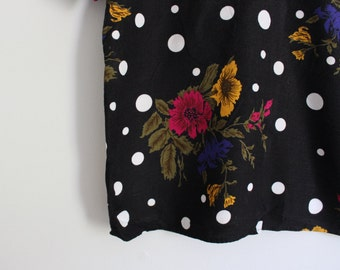 Vintage Floral and Dot Blouse