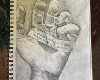 Original Drawing - Hand, Inspiration, Motivation