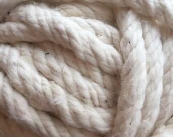 Large Hand Twisted Chunky Cotton Yarn Ball X1