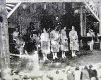 1930 Real Photo Postcard House of David Park Open Air Theater Benton Harbor Michigan RPPC