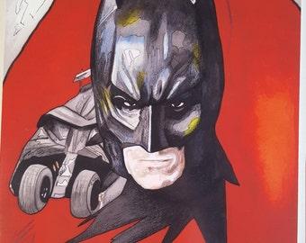 Christian bale batman print