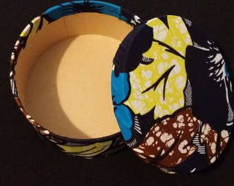 African Fabric gift box
