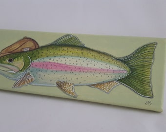 Rainbow Trout Flat Cap.