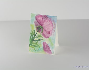 Hand-painted Flower Note Card