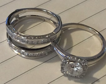 Engagement & wedding bands- never got married. Need to sell
