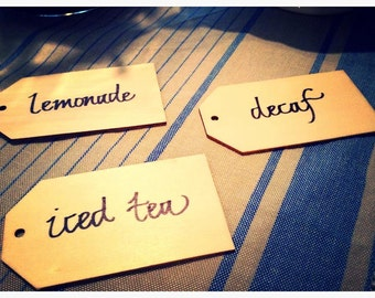 Customized Beverage Tags