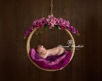 Newborn Photography Hanging Prop Hammock Dreamcatcher Flowers