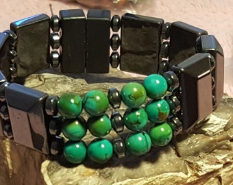 Energy Bracelet Accented with Turquoise Beads