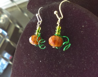 Tiny pumpkin earrings