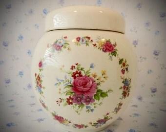 1960s Vintage Granny Chic Ginger Jar By Sadler