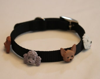 Dog Face Dog Collar 14""