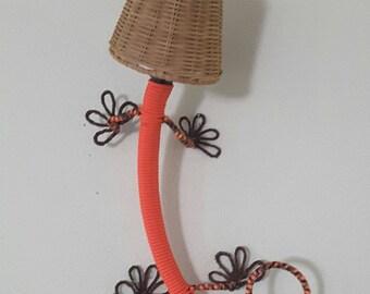 Gecko Lizard Lamp Wall Sconce – Mandarin Orange