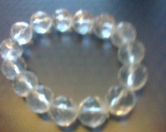 Clear bead bangle