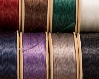 Nymo thread, spool of thread, stitch work beading, pre waxed thread, lightly waxed, beading thread, stitched jewellery, jewelry making