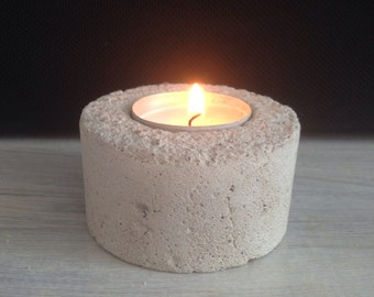 Concrete concrete candle holder candlestick