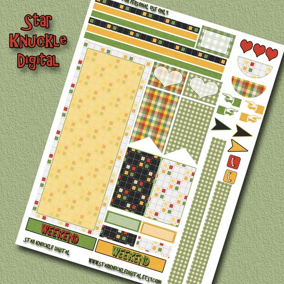 Happy planner stickers happy planner printable weekly kit for Happy planner accessories