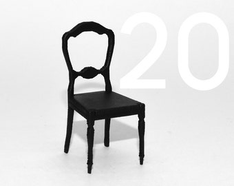 1to25 Scale Laser Cut Model Chair from Card (also available in Imperial 1to24 Scale)