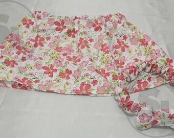Pink floral skirt and headband set