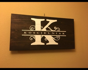 Personalized Last Name Wall Decor