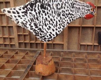 Handpainted Wooden Chicken