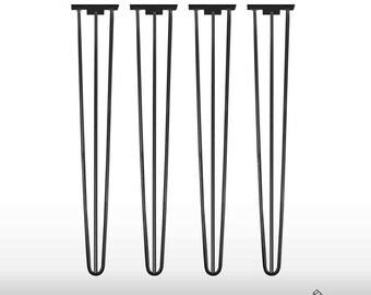 4x Hairpin Legs 80 cm 31,5 Inch Haarnadelbeine Table Mid Century