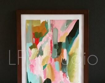 Original Abstract Acrylic Painting Colorful Series #010 - LFV Studio