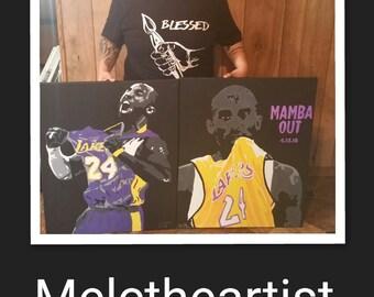 Kobe Bryant paintings