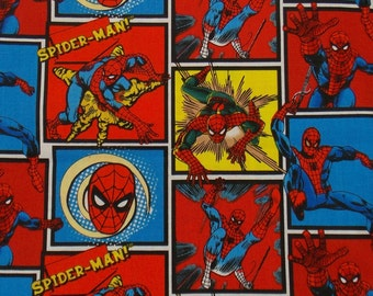 Fabric Super Hero Fabric Spiderman Fabric Spiderman Quilt Fabric Craft Fabric Apparel Fabric