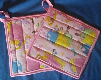 Disney Inspired Princess Quilted potholders