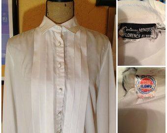 vintage white blouse 1970s