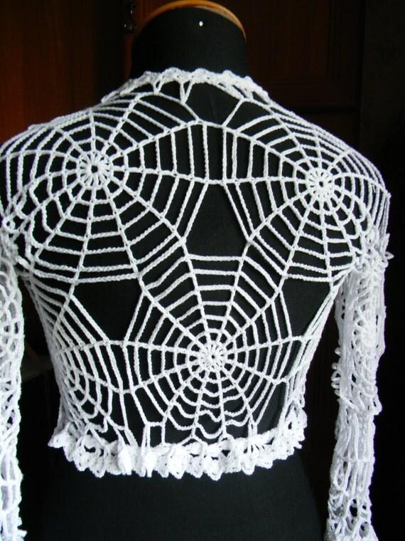 Halloween costume adult Spider web top exclusive work crochet