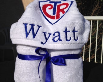 Personalized Baptism Hooded Towel