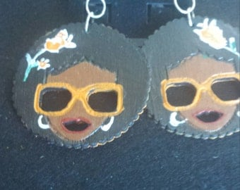 sun shine girl earring