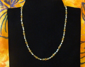 18 inch celestial crystal bead necklace