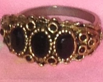 Black and Gold Tone Ring