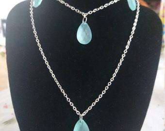 Handmade necklace, bracelet & earrings