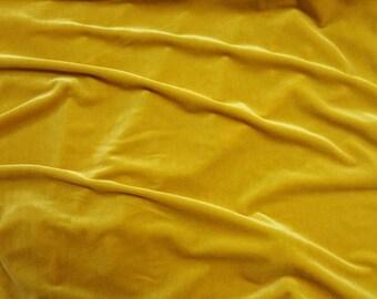 Stretch Velvet By The Yard - Marigold