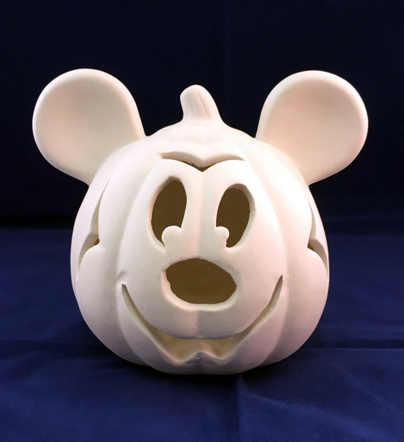 Mickey mouse pumpkin ceramic bisque u paint for How to paint a mickey mouse pumpkin