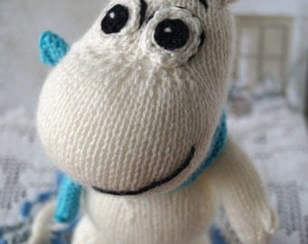 Knitted toy Moomin