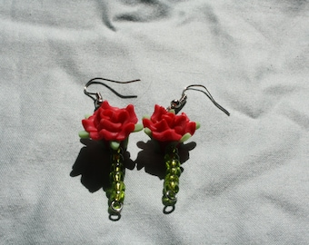 Beauty and beast inspired earrings