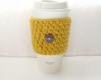 Crochet Coffee Cozy, coffee cozy, coffee sleeve, Reusable coffee sleeve,  Mug Cozy, Starbucks coffee sleeve,