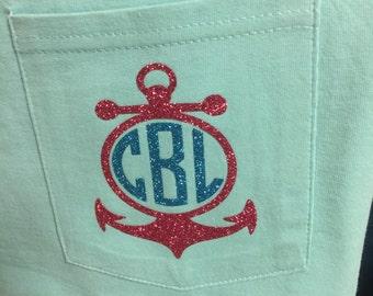 Beachin shirts with initials