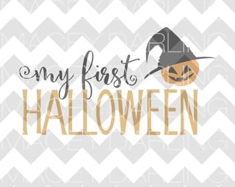 My First Halloween, My First Halloween SVG, First Halloween, First Halloween Cut File, Halloween SVG, Pumpkin SVG, Happy Halloween svg, dxf