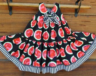 Black watermelon dress
