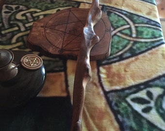 Extra long Wiccan driftwood    Wand