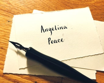 Wedding calligraphy place cards (10x)