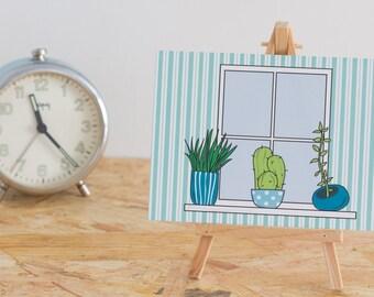 A6 Postcard Cactus and succulents